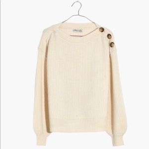 MADEWELL Boatneck Button Sweater